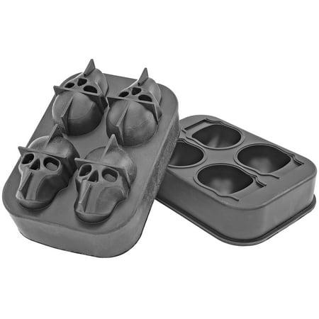 Skull Ice Tray Mold Black