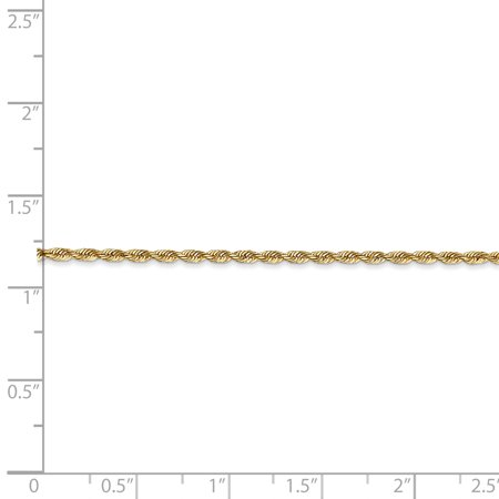 14k Yellow Gold 1.85mm Quadruple Link Rope Chain Anklet Ankle Beach Bracelet 9 Inch Handmade Fine Jewelry Gifts For Women For Her - image 2 de 8