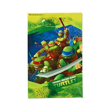 "American Greetings Totally Tubular Teenage Mutant Ninja Turtles Party Folded Loot Bag Favours, Plastic, 9"" x 6"", Pack of 8 - image 2 of 2"