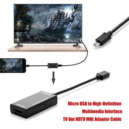 Micro USB to Multimedia Interface TV Mobile High-Definition Link Adapter Cable for Android Mobile Phone MAX Full