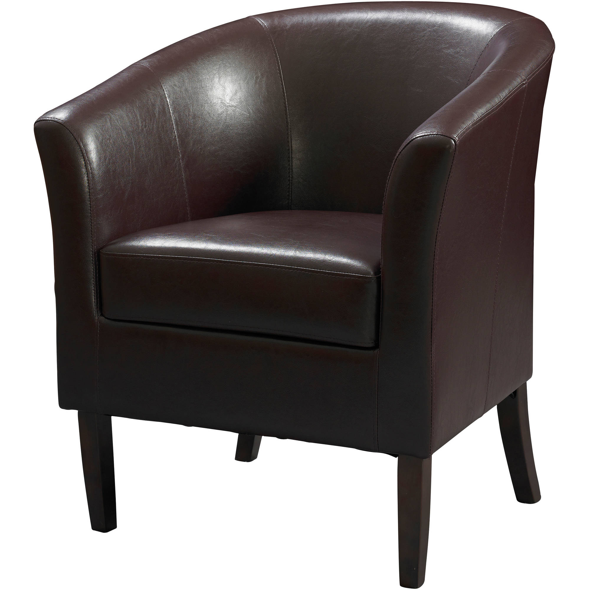 Linon Simon Club Chair, Blackberry, 19.5 inch Seat Height