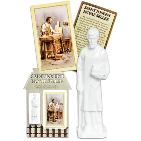 Gifts Of Faith White Tradition St Joseph Home Seller Figurine