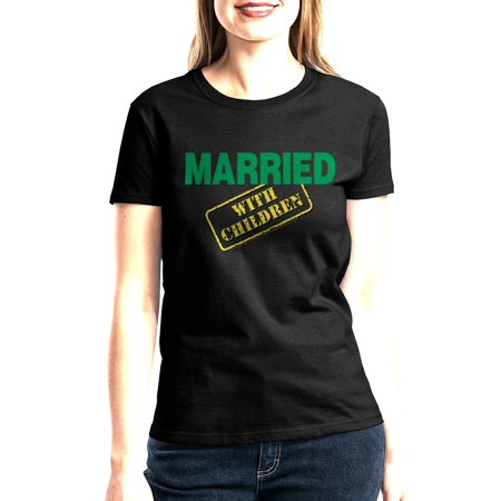 Married With Children MWC Logo Women's Black T-shirt NEW Sizes (Was Moses Married To A Black Woman)