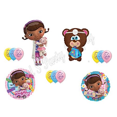 Doc McStuffin & Teddy Bear Happy Birthday PARTY balloons Decorations Supplies