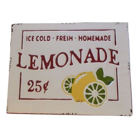 Metal ICE COLD FRESH HOMEMADE LEMONADE Sign](Lemonade Signs)