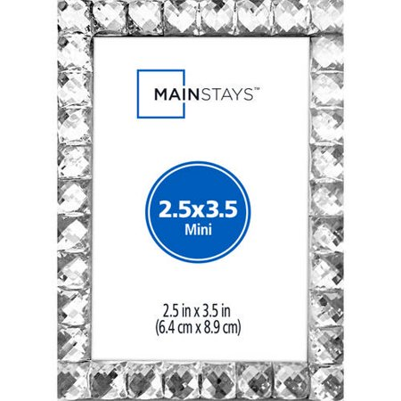 Mainstays Bling Mini Picture Frame, Silver - Best Frames