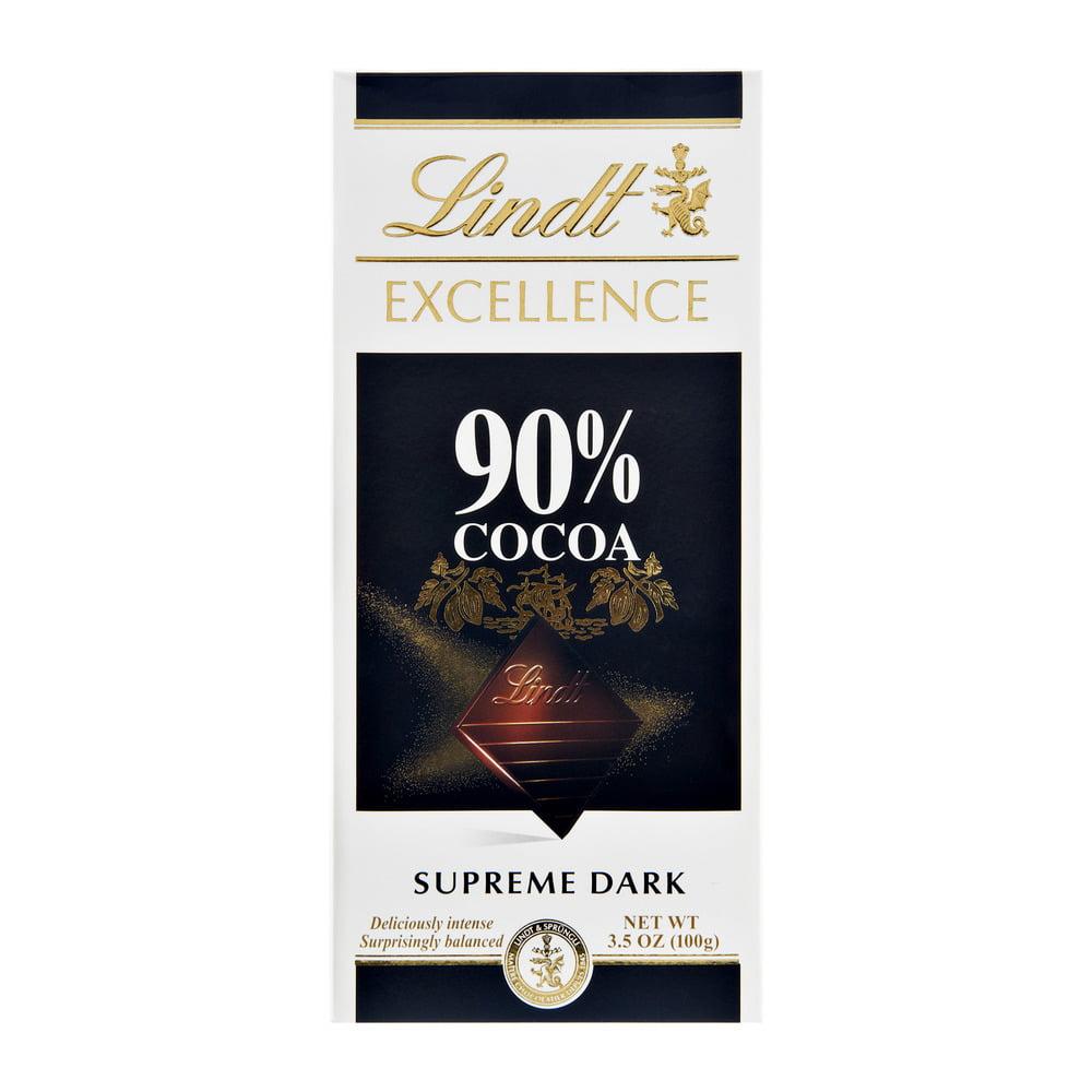 Lindt 90% Cocoa Supreme Dark Chocolate, 3.5 OZ