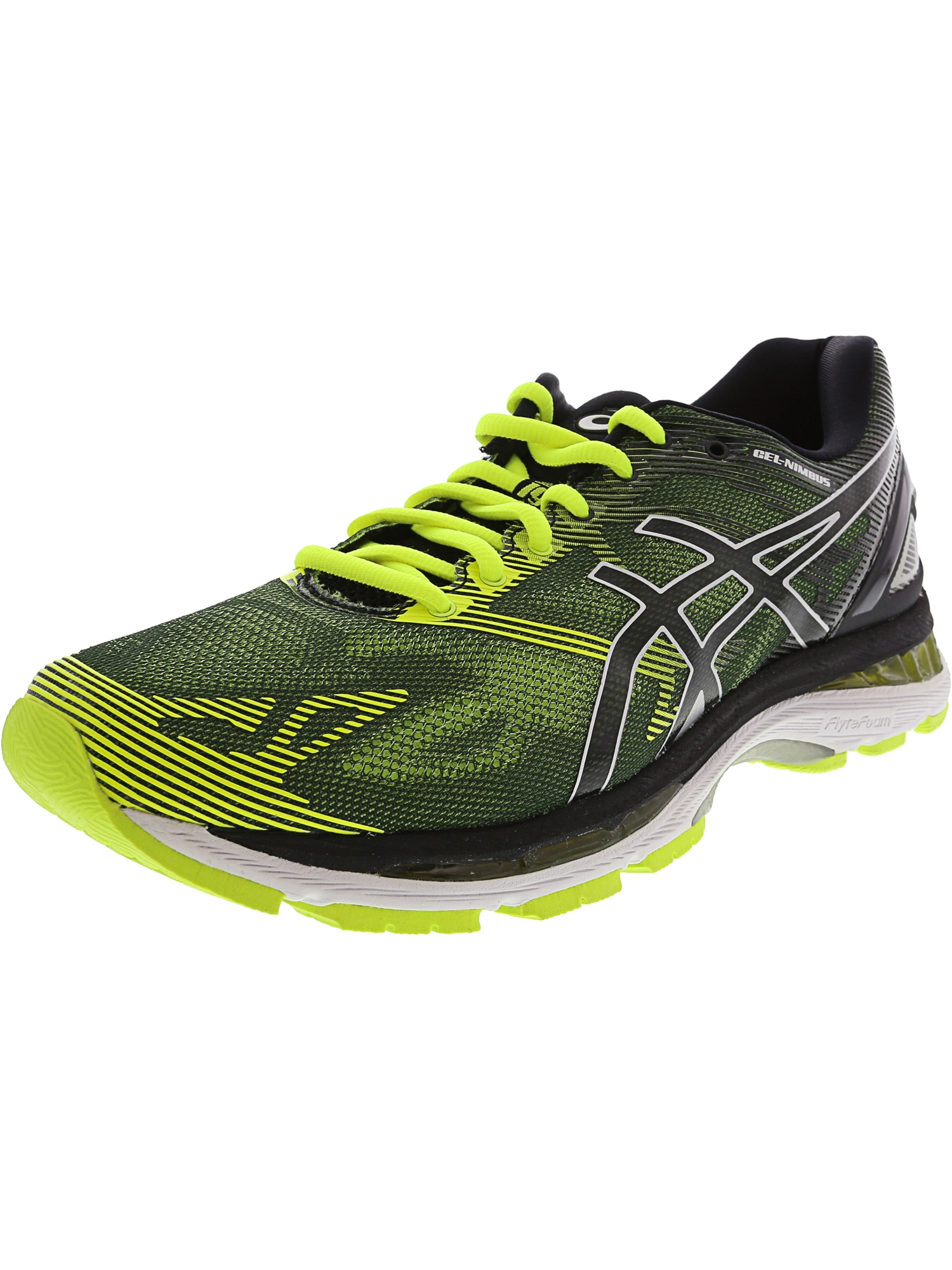 Asics Men's Gel-Nimbus 19 Carbon / White Silver Ankle-High Running Shoe - 9.5W