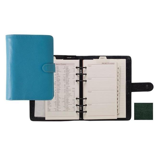 Raika RM 201 GREEN Six Ring Wallet Agenda - Green