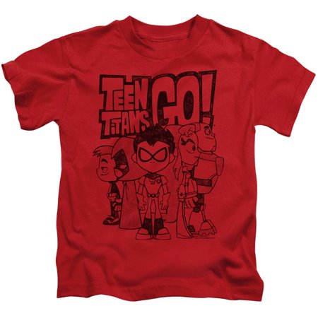 Teen Titans Go Team Up Little Boys Juvy Shirt](Fancy Tops For Teenagers)