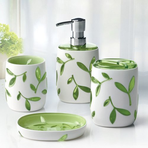 Immanuel Olive 4 Piece Bathroom Accessory Set