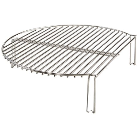 Kamado Joe Classic Joe Stainless Steel BBQ Grill or Smoker Expander Cooking Rack Capital Cooking Stainless Steel Grill