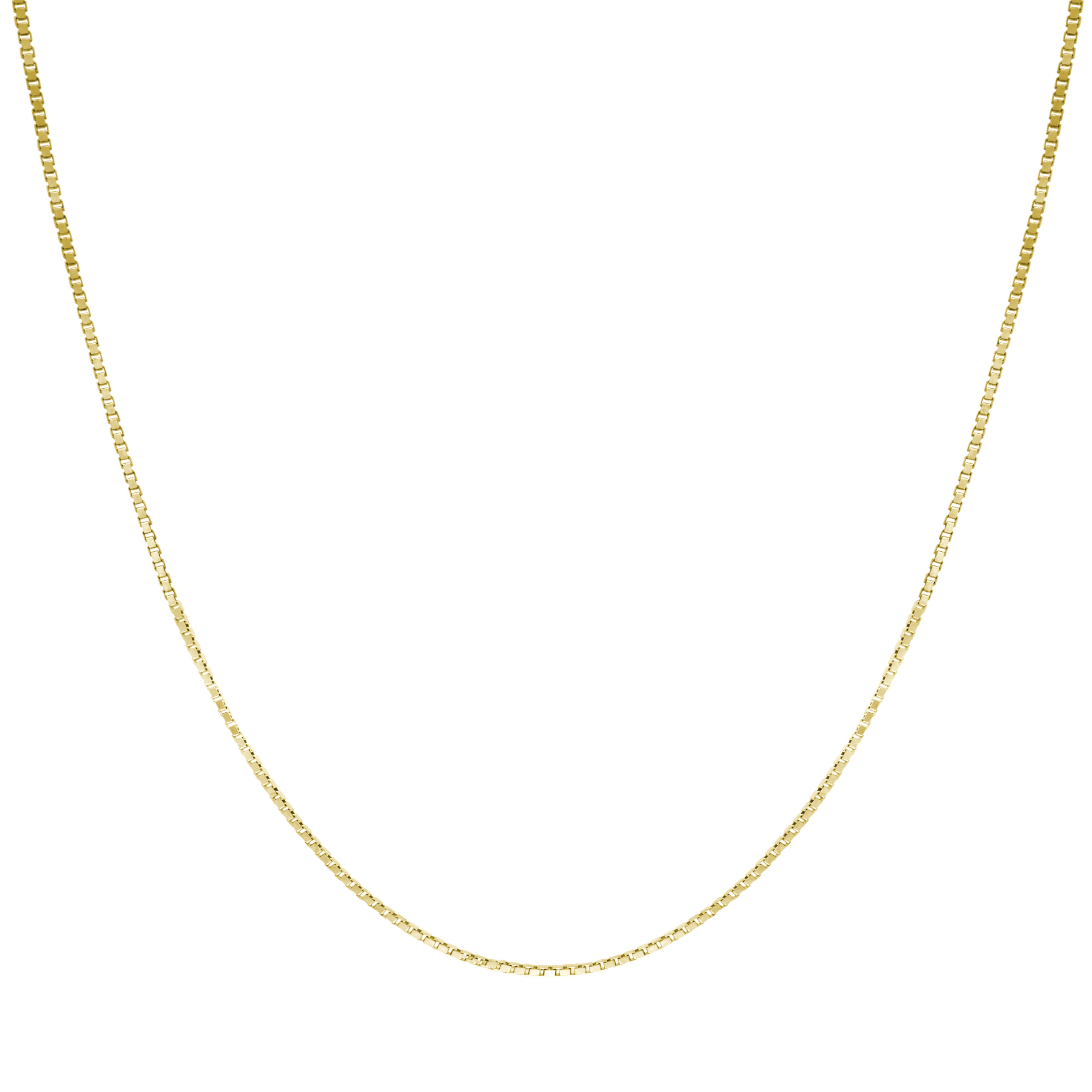Honolulu Jewelry Company 14K Solid Gold 0.7mm Box Chain Necklace 16-30