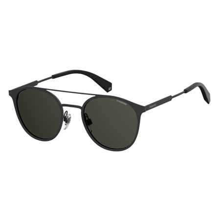 PLD 2052/S 0807 M9 Black 51mm Polaroid PLD 2052/S Round Unisex Polarized Sunglasses
