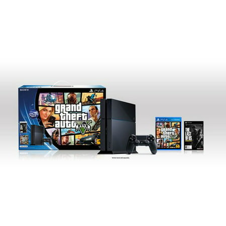 Refurbished PS4 Grand Theft Auto V and The Last of Us 500GB Console Bundle