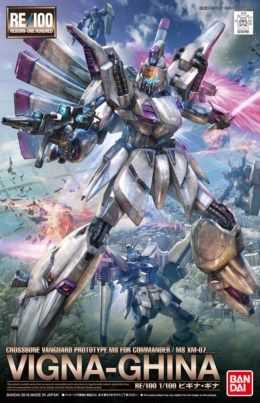 Bandai Hobby Gundam F91 #09 Vigna-Ghina RE 100 MG 1 100 Model Kit by Bandai Hobby