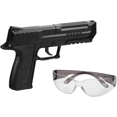 Crosman P15BKT Air Pistol Kit w/Gun, 350 BB\'s, Safety