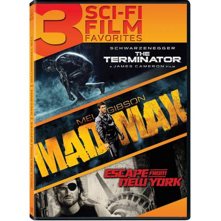 3 Sci-Fi Film Favorites: The Terminator / Mad Max / Escape From New York (Blu-ray)