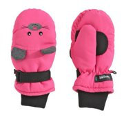 Aquarius Girls Pink Mouse Snow & Ski Mittens Fleece & Thinsulate Lining