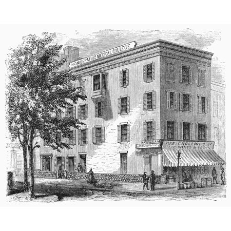 New York Medical College Nhomeopathic Medical College East Twentieth Street And Third Avenue New York New York Wood Engraving 1868 Poster Print by Granger