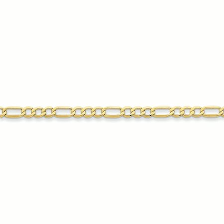 10K Yellow Gold 4.75MM Figaro Link Bracelet (7 -