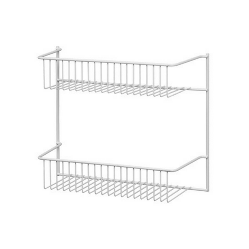 """CLOSETMAID 28002-00 12"""" 2Tier White Wall Rack"""