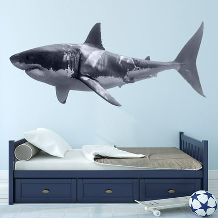 VWAQ Great White Shark Wall Decal Realistic Shark Stickers Peel And Stick Mural VWAQ-PAS3 (10