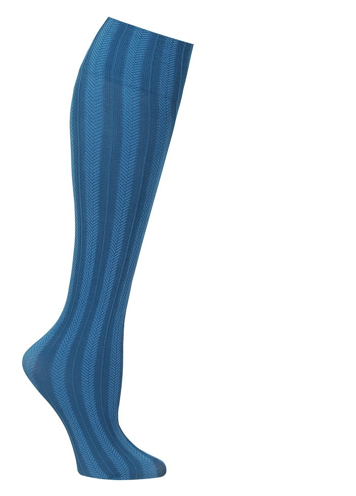 Women's Wide Calf Solid and Patterned Trouser Socks Set of 3
