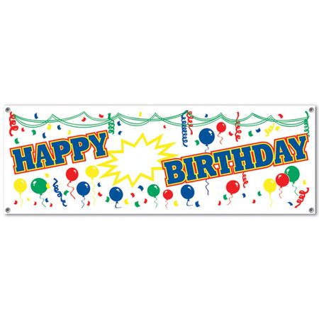 The Party Aisle Happy Birthday Sign (Set of 2)