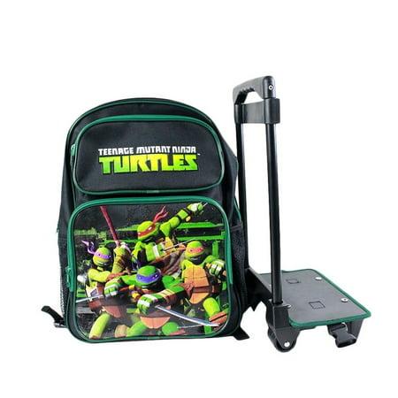 Teenage Mutant Ninja Turtles Rolling Luggage School Detachable Backpack - Ninja Turtle Bookbag