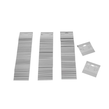 """100 PC Grey Plastic Earring Card 2"""" x 2"""" Hang Jewelry Display Plain Cards Retail Supplies"""