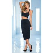 Daring High Waisted Skirt and Crop Top Set