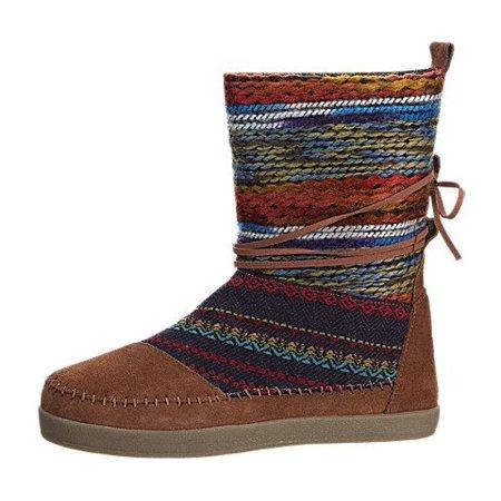 c6bd116fa TOMS - Toms Nepal Boots Cognac Suede Textile Mix 10006221 Womens 6 -  Walmart.com