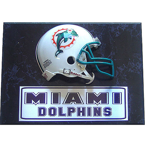 NFL Miami Dolphins Mini Helmet Plaque, 9x12