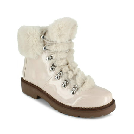PORTLAND by Portland Boot Company Faux Fur Lace Up Boot (Women's)
