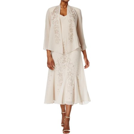 R&M Richards Womens 2pc Embellished Sheath Dress