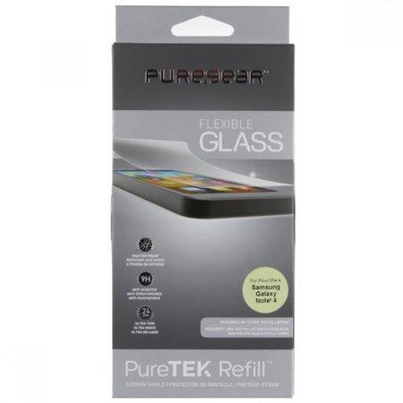 Puregear Puretek Shield Refill Flexible Glass Screen Protector for Samsung Galaxy Note 4 (Glass Screen Protector For Note 4)