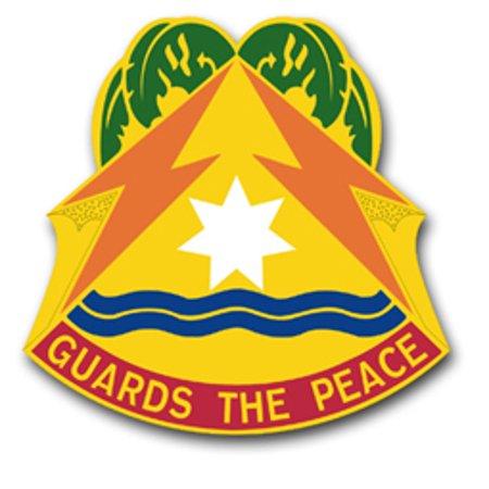 3.8 Inch Army 53rd Signal Brigade Florida Unit Crest Vinyl Transfer Decal