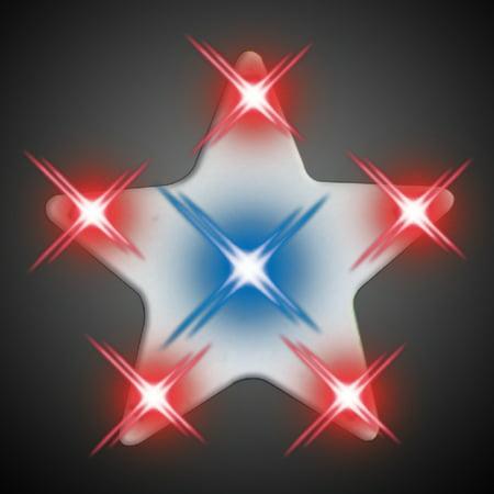 FlashingBlinkyLights Turbo Star Flashing LED Light Up Body Light Pins - Light Up Stars