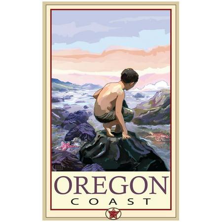 Oregon Coast Tide Pool Travel Art Print Poster by Joanne Kollman (24