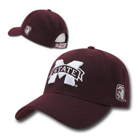 Maroon Mississippi Miss State Bulldogs NCAA Adjustable Baseball Ball Hat Cap