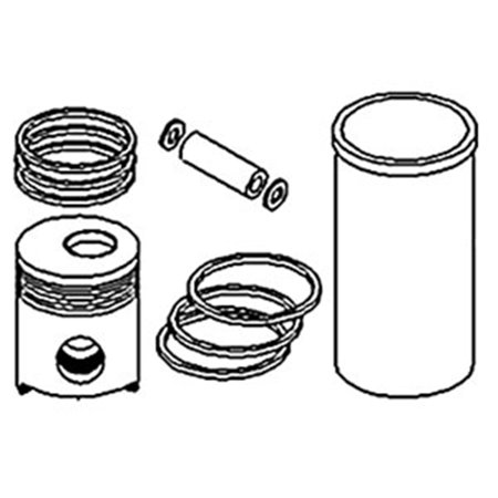 PK120 New Piston Liner Kit For Allis Chalmers Tractor WC