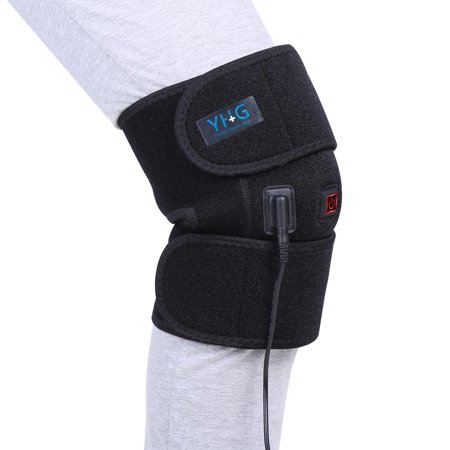 TOPINCN Heated Knee Braces for Women, Knee Heating Pad, Heated Knee Brace Wrap Knee Heating Pad for Knee Injury, Cramps Arthritis Recovery - image 1 of 1