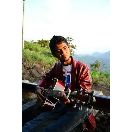 Laminated Poster Singer Boy Scene Pose Guitarist Song Lyrics Poster Print 11 x 17 - Scene Boys
