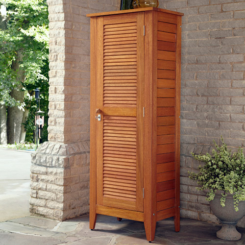 Home Styles Montego Bay 1-Door Multi-Purpose Outdoor Storage Cabinet, Eucalyptus