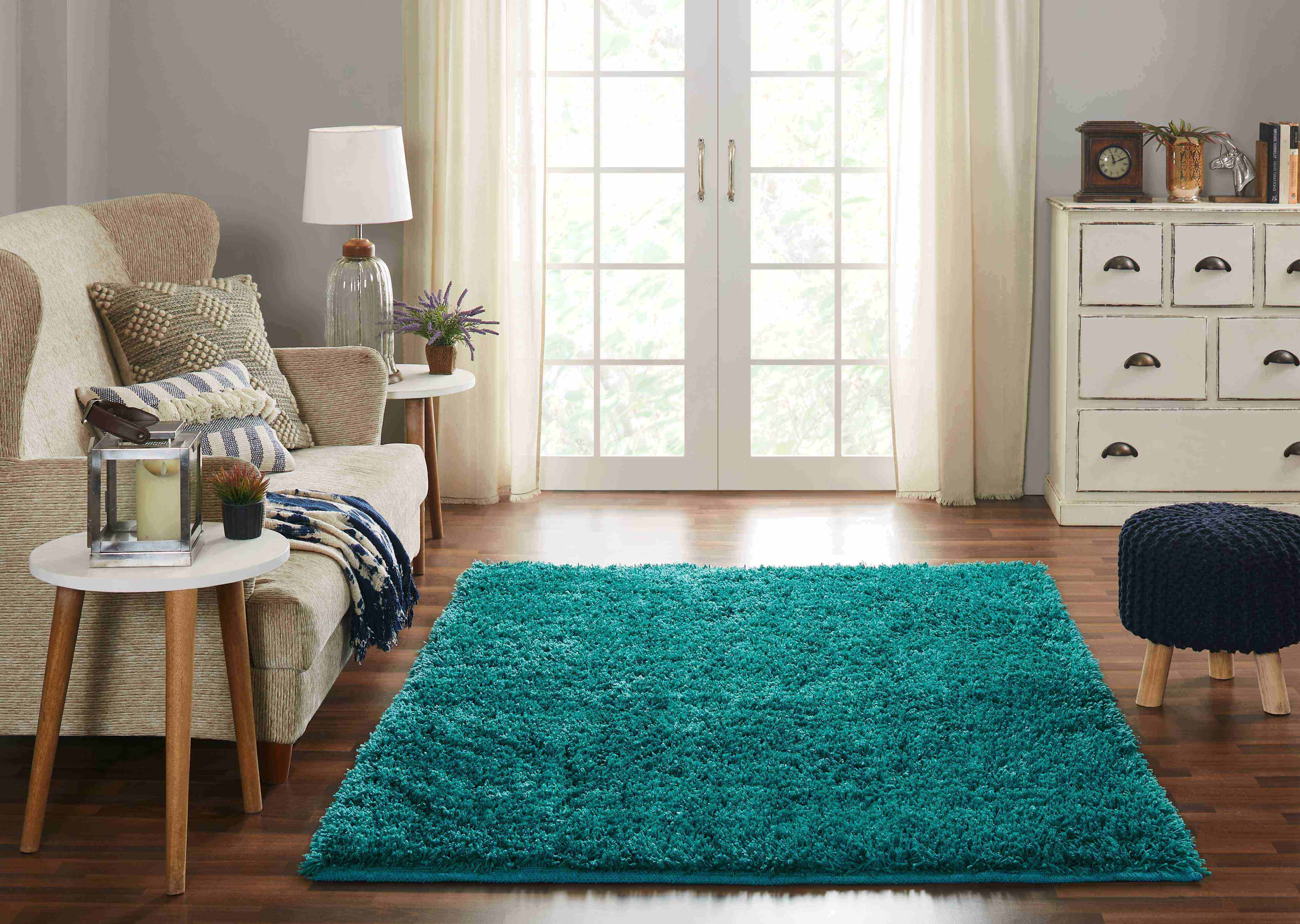 Chesapeake Microfiber Teal Shag Area