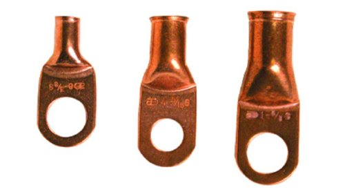 Install Bay CUR2038 2//0 Ga 3//8-Inch Uninsulated Copper Ring Terminal 5//Pack New