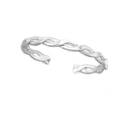 Toe Ring Polished Infinity Weave Design Sterling Silver Polished Toe Ring
