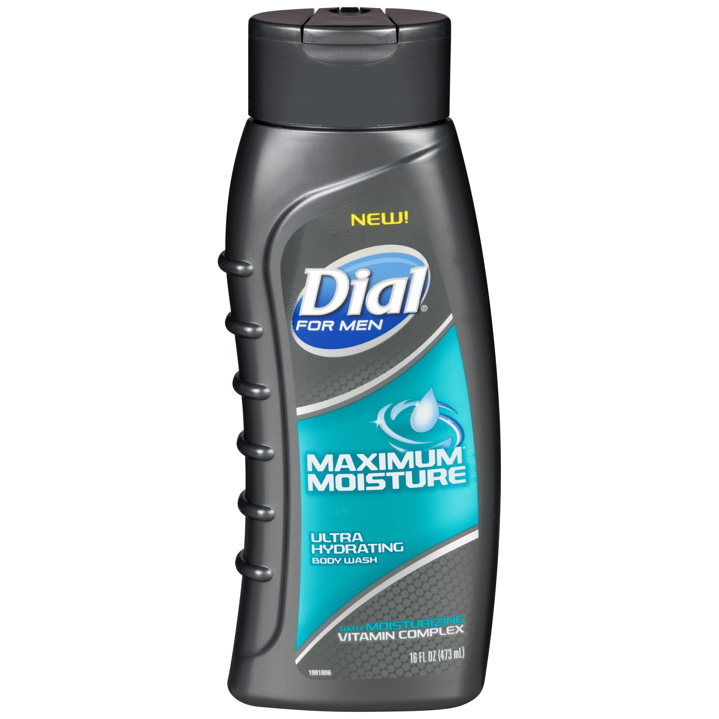 Dial for Men Body Wash, Maximum Moisture, 16 Oz