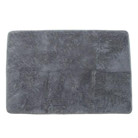 NK 15.7''x23.6'' Rectangular Area Rug Super Soft Indoor Carpet Modern Silky Smooth Rugs Fluffy Rugs Anti-Skid Area Rug Dining Room Home Bedroom Carpet Floor Mat Grey Blue Pink ()